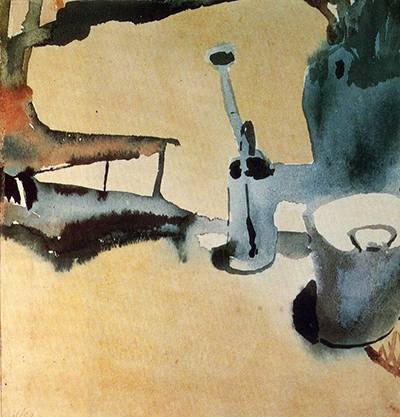Flower Stand with Watering Can and Bucket Paul Klee