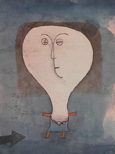 Fright of a Girl Paul Klee