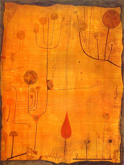 Fruits on Red Paul Klee