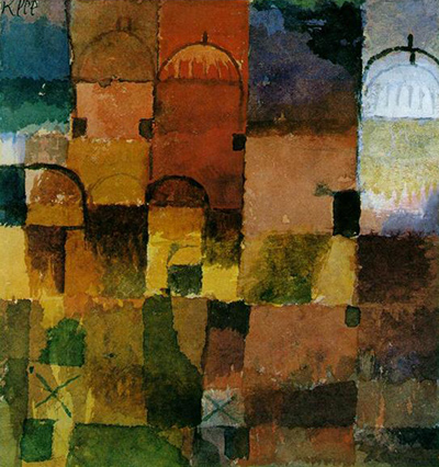 Red and White Domes Paul Klee